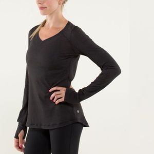 Lululemon Race Me long Sleeve Black